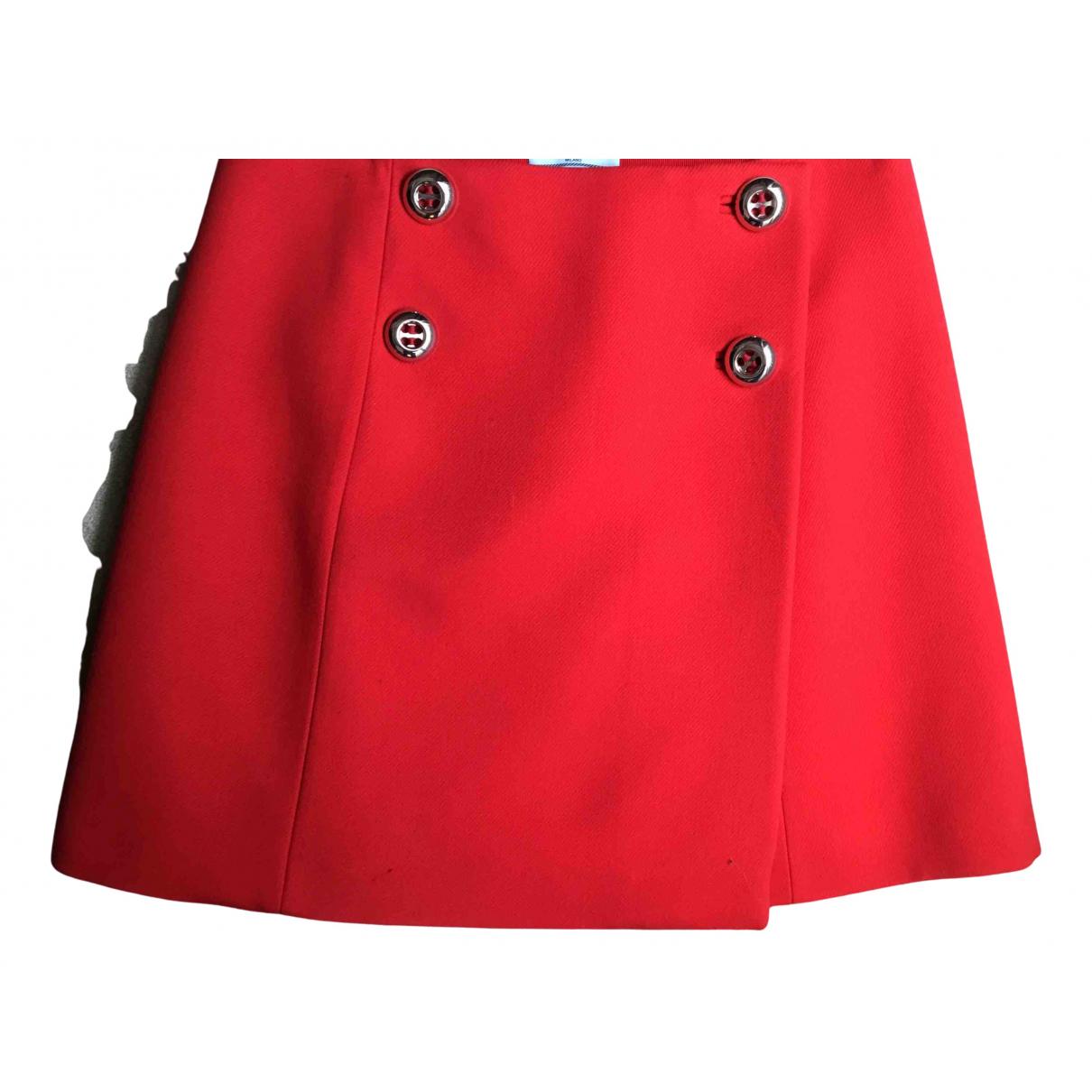 Prada N Red Wool skirt for Women 46 IT