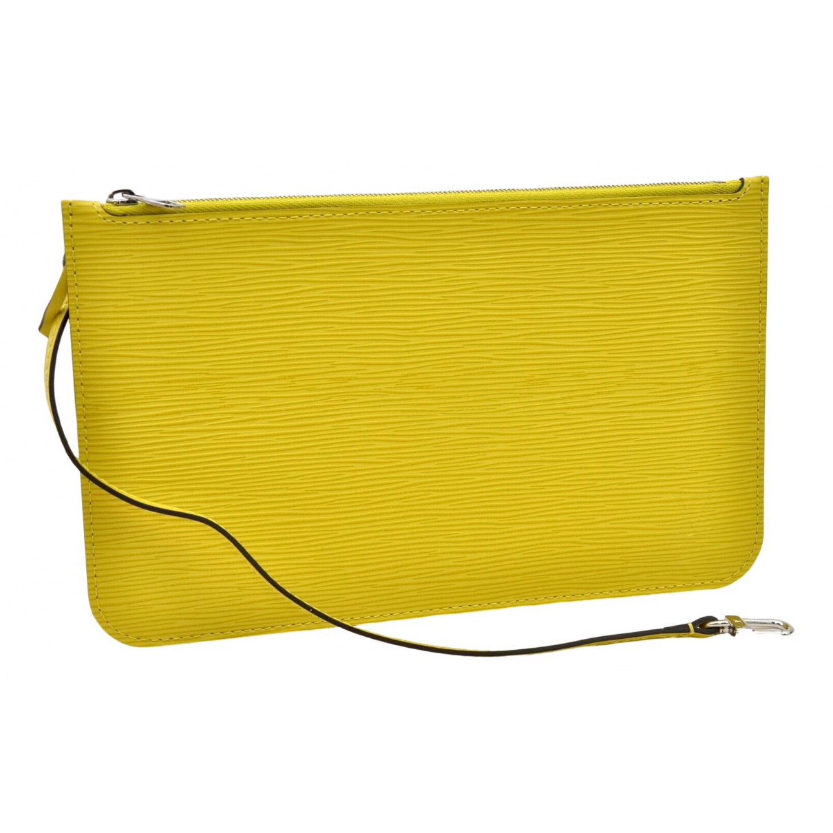 Louis Vuitton \N Clutch in  Gelb Leder