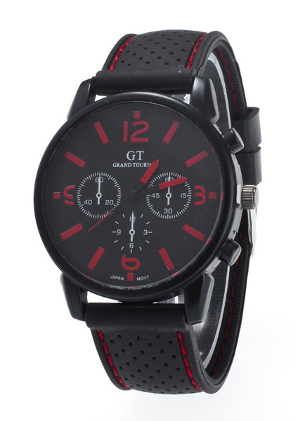 Milanoo Multi-time Zone Rubber Casual Watches