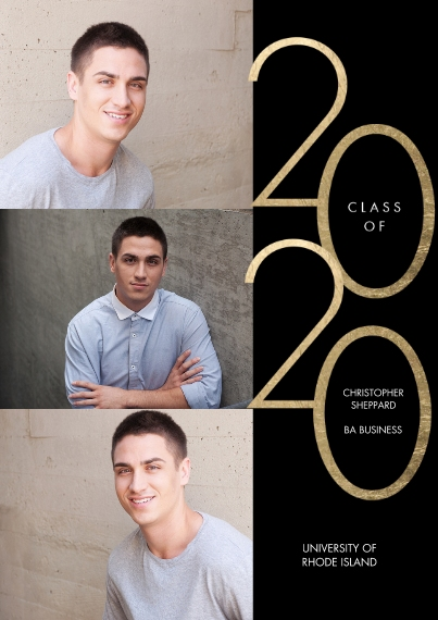 2020 Graduation Announcements 5x7 Cards, Premium Cardstock 120lb, Card & Stationery -2020 Class of Modern by Tumbalina