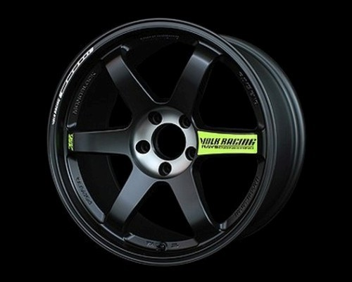 Volk Racing WVDX21EPB2 TE37SL Black Edition II Wheel 18x9.5 5x114.3 21mm Pressed Black/Rim REDOT