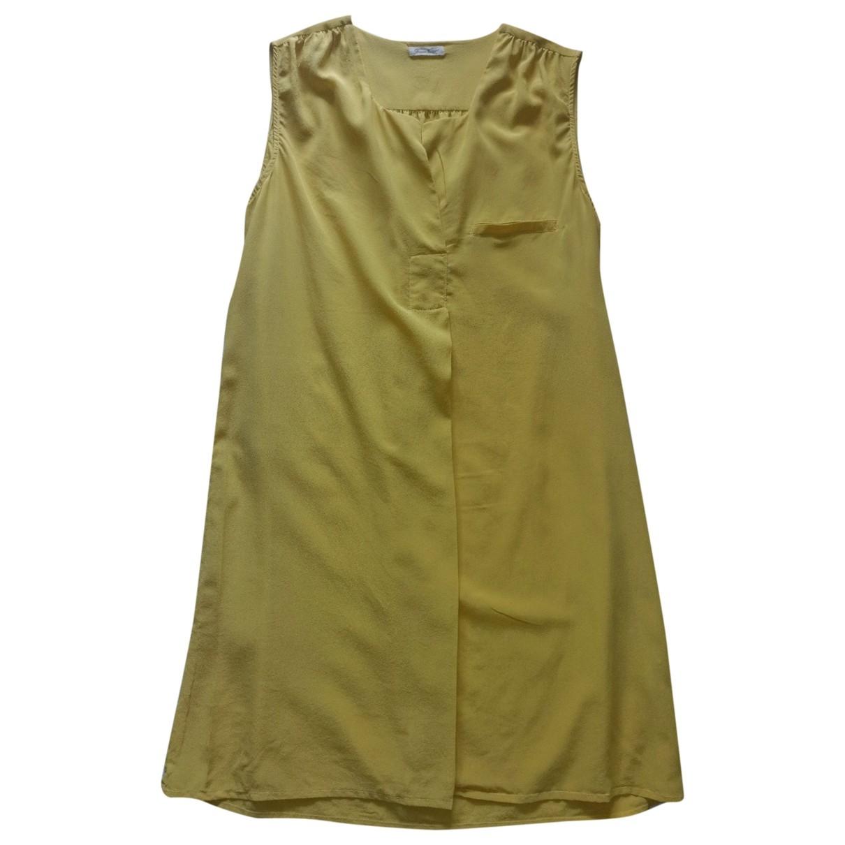 American Vintage \N Kleid in  Gelb Seide