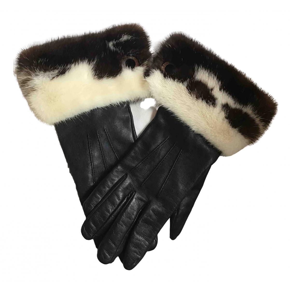 Bvlgari \N Handschuhe in  Schwarz Fell