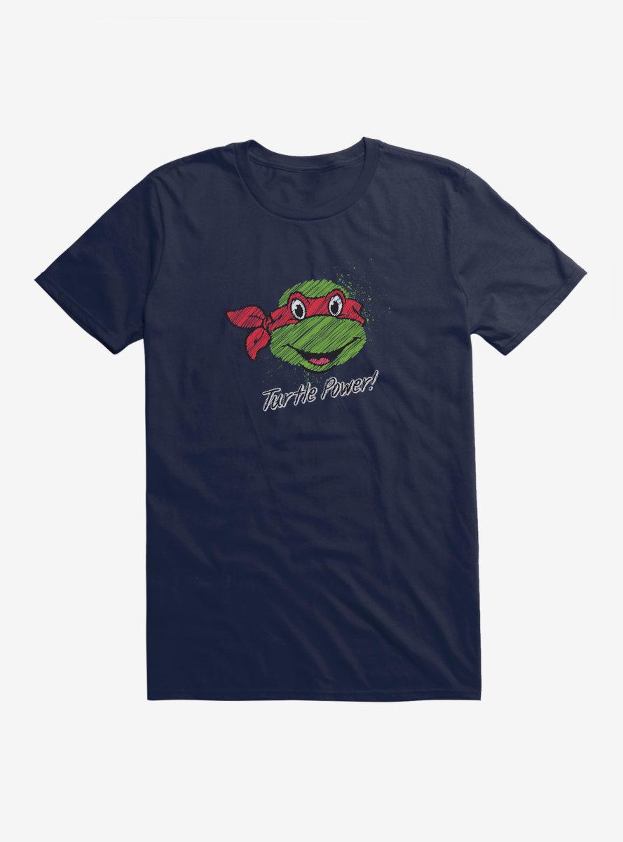 Teenage Mutant Ninja Turtles Chalk Lines Raphael Turtle Power T-Shirt