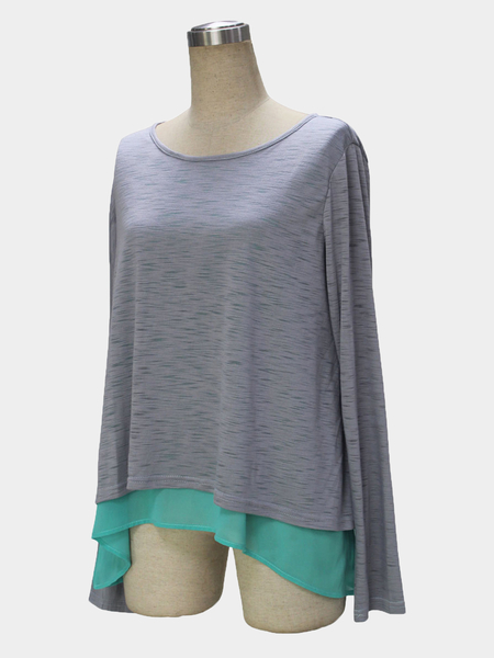 Yoins Long Sleeves Two-in-one Knitted Top