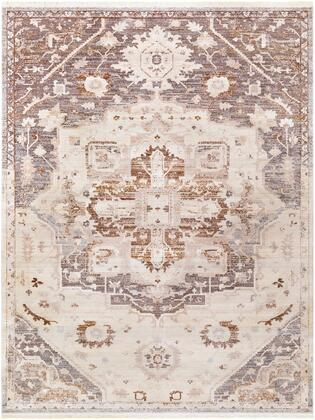 Ephesians EPC-2316 9 x 1210 Rectangle Traditional Rug in Silver Gray  Medium Gray  Cream  Beige  Dark Brown
