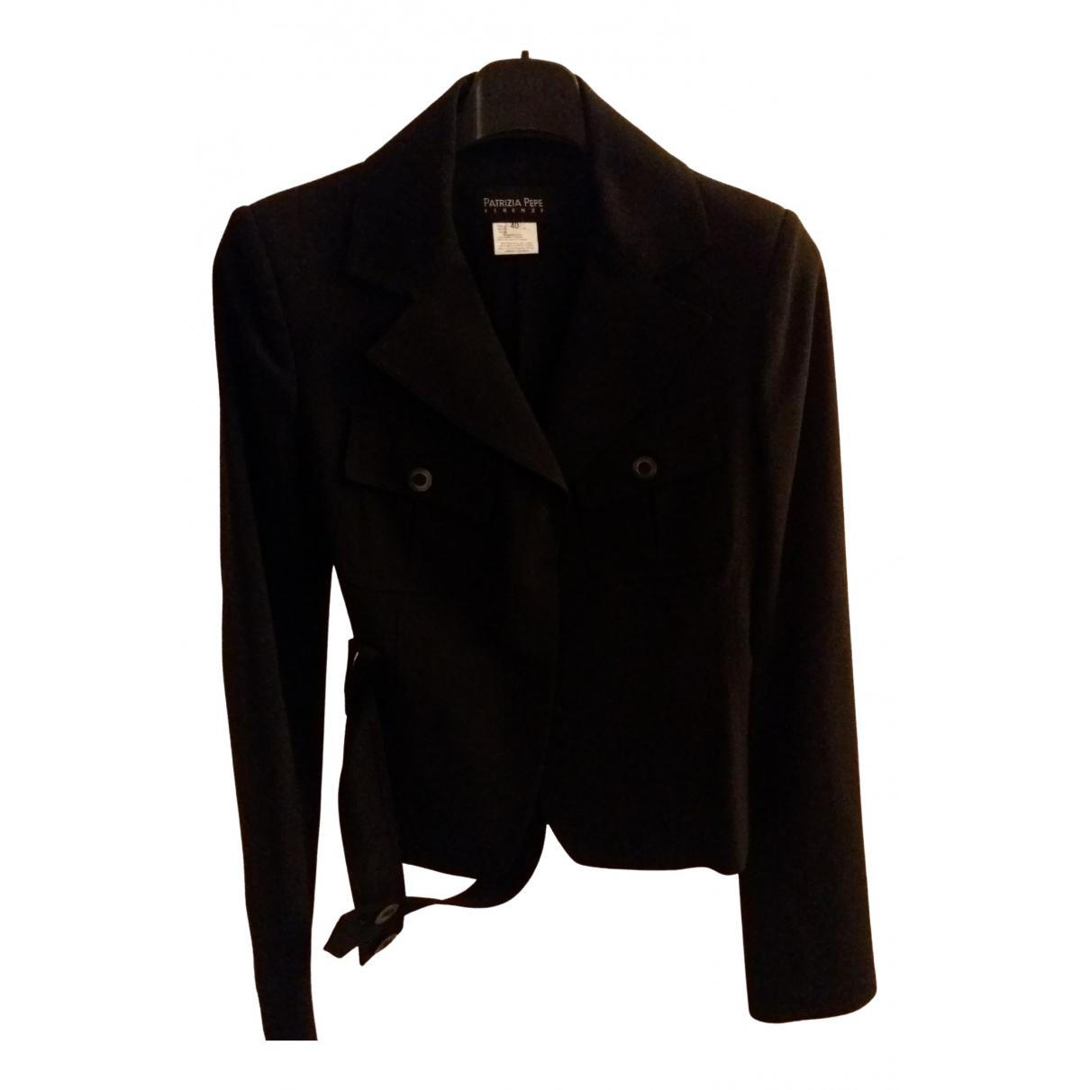 Patrizia Pepe \N Black jacket for Women 40 IT