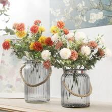 1 Strauss Kuenstliche Blume und 2 Stuecke Kopfen
