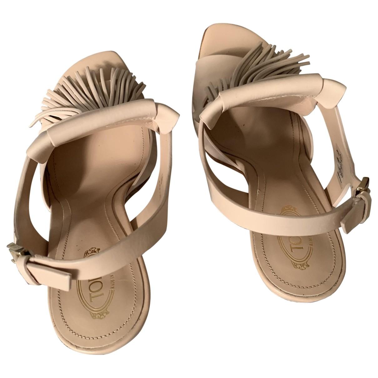 Tods - Sandales   pour femme en cuir