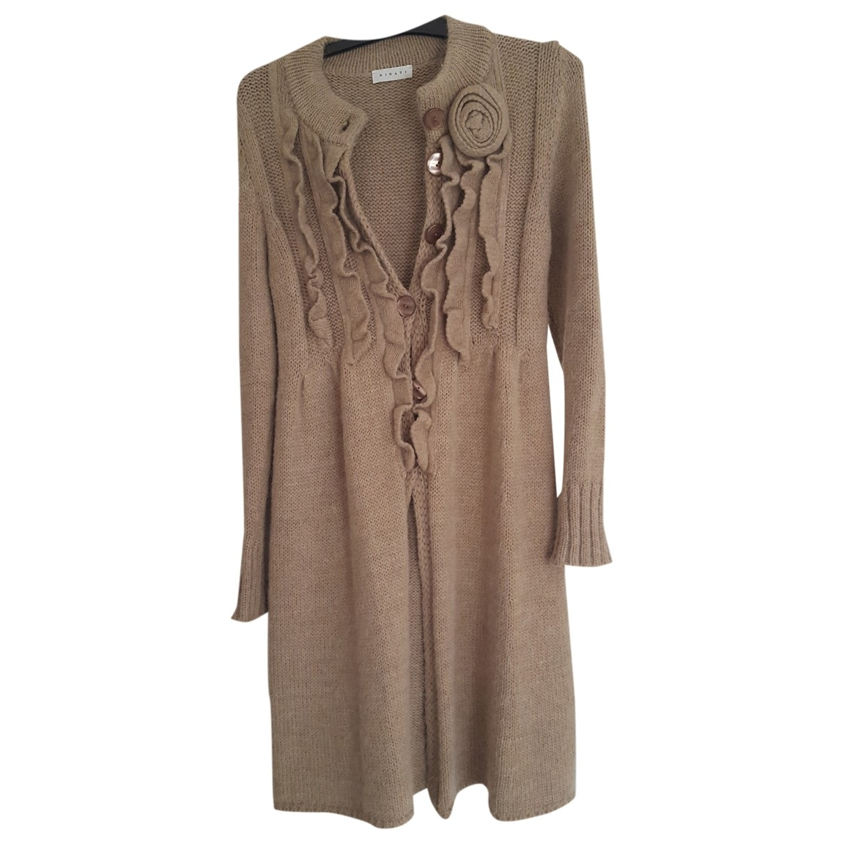 Non Signé / Unsigned \N Beige Wool Knitwear for Women 36 FR
