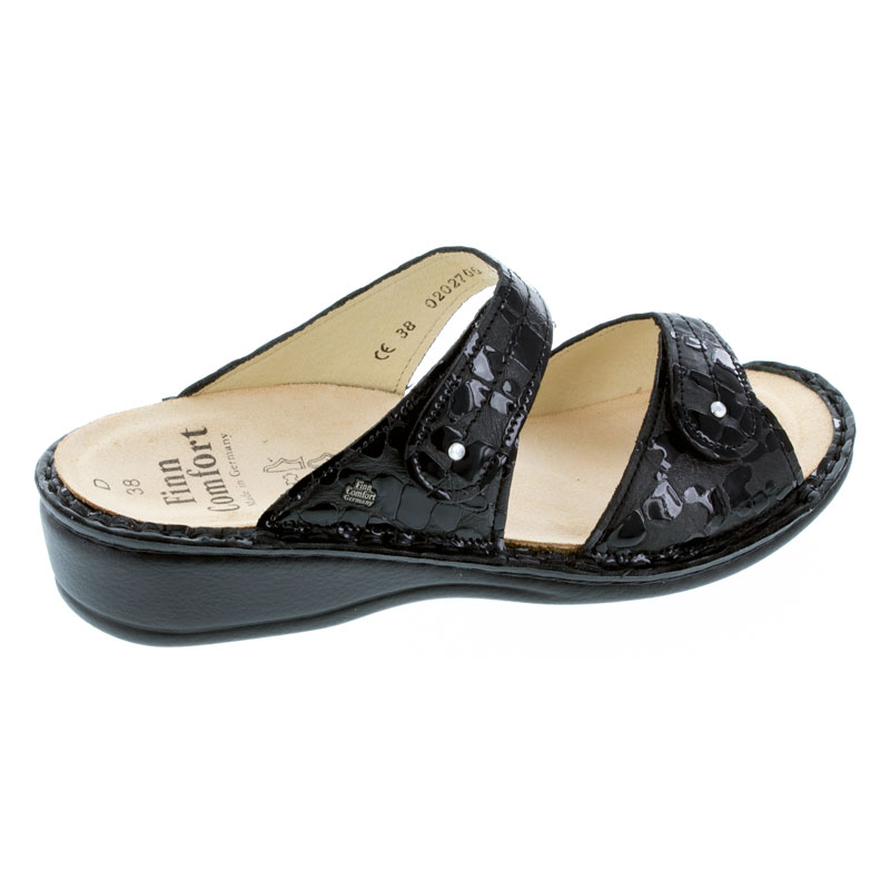 Finn Comfort Catalina Black Odessa Leather Soft Footbed 42