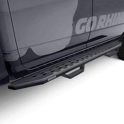 Go Rhino RB20 Running Board with Drop Steps (Black) - 6940588020PC