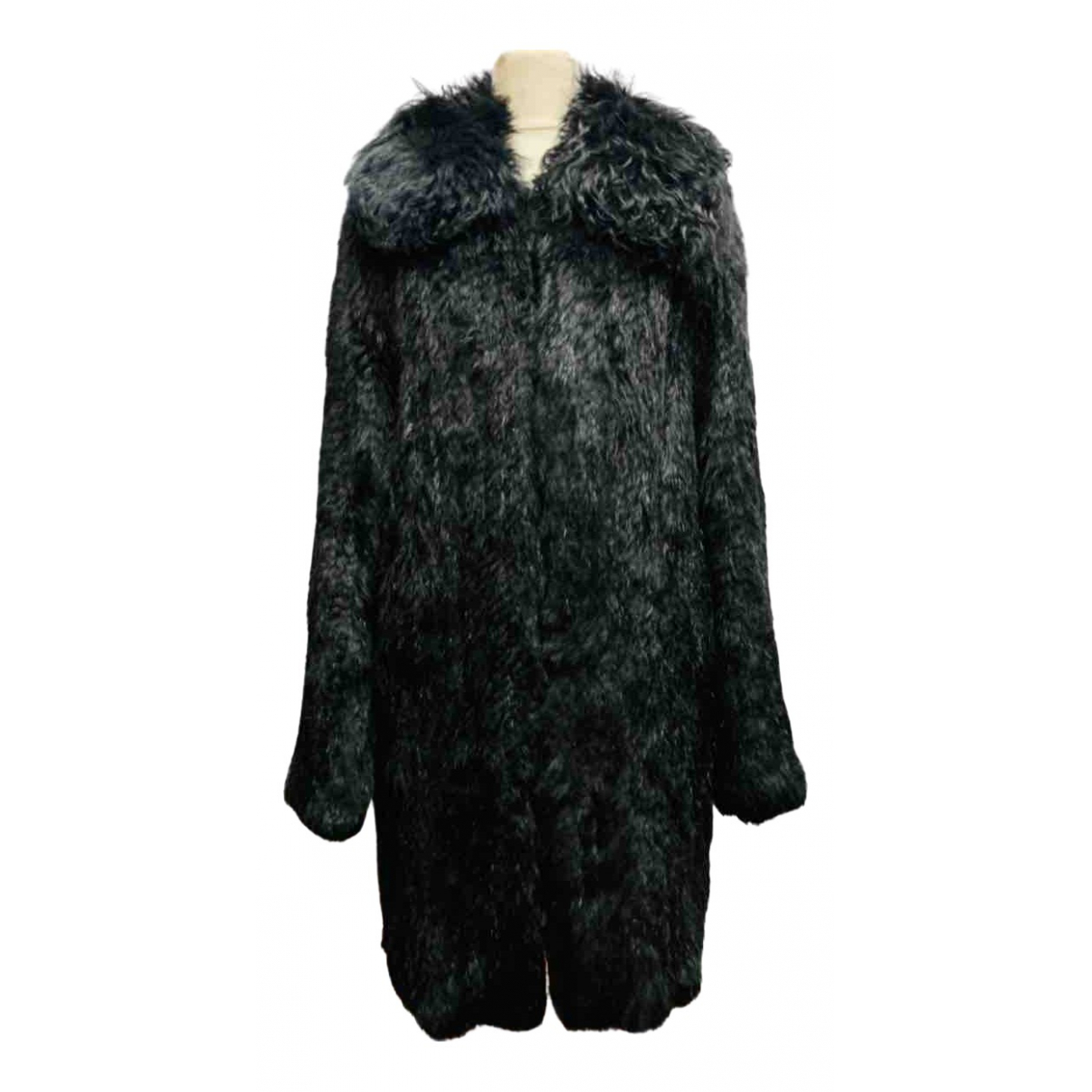 Twin Set N Black Rabbit coat for Women XS International