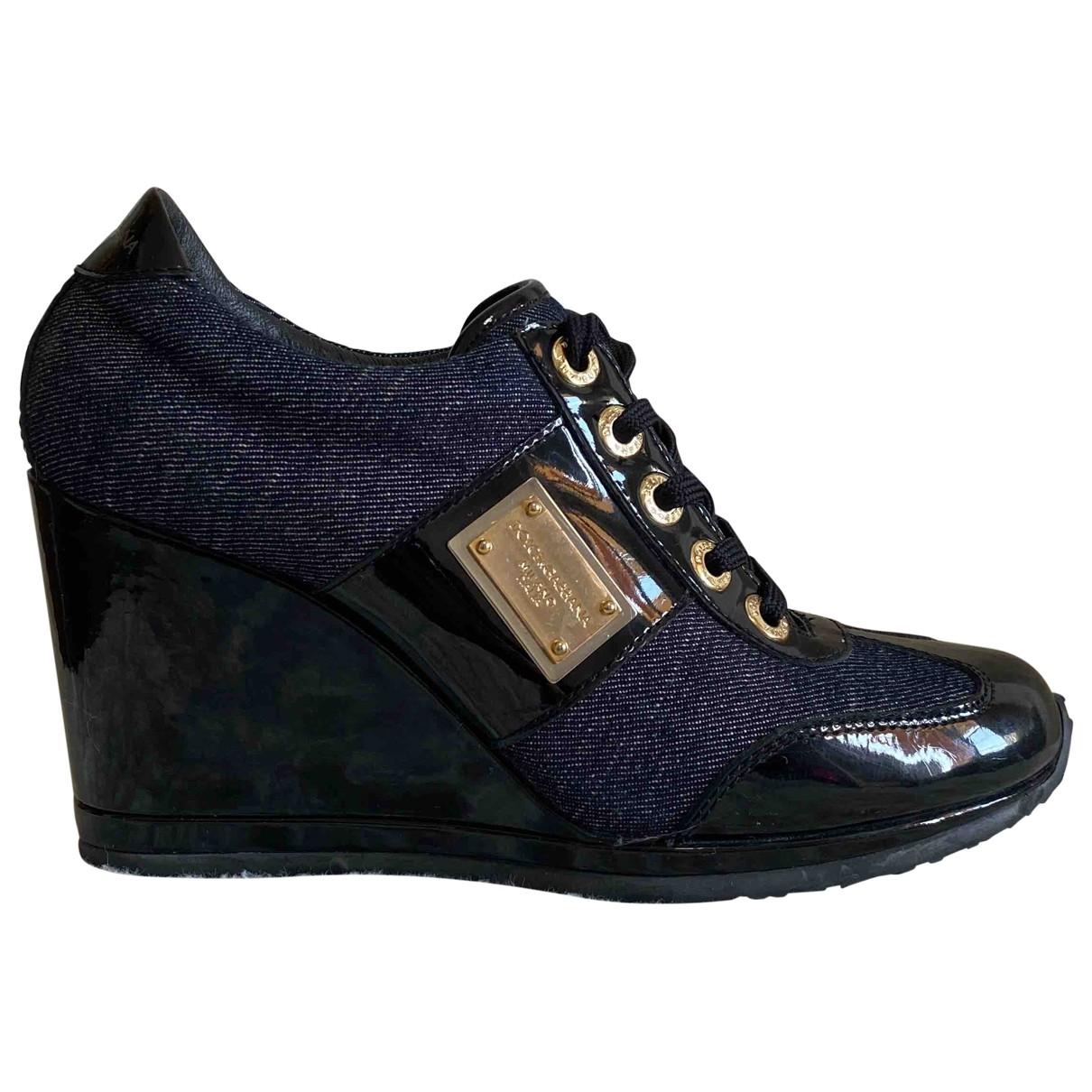 Dolce & Gabbana - Baskets   pour femme en toile - noir