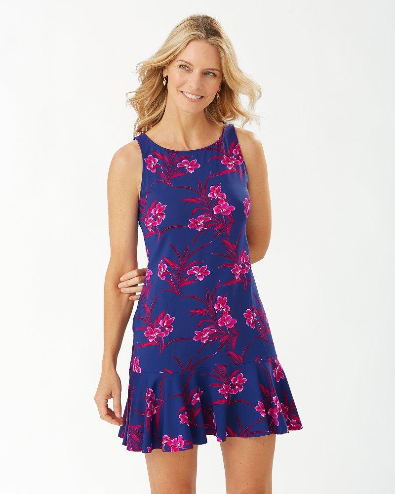Oasis Blossoms High-Neck Flounce Dress