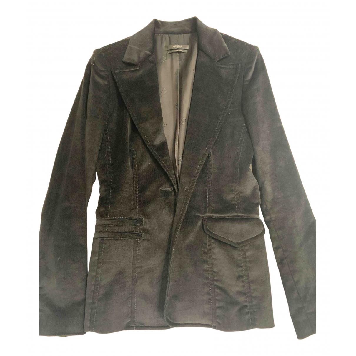 Guess - Veste   pour femme en coton - noir