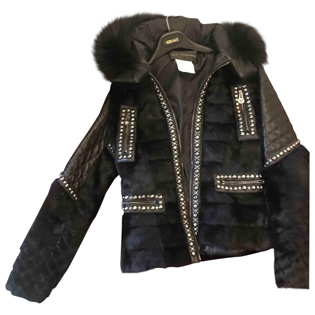 Versace - Veste   pour femme en vison - noir