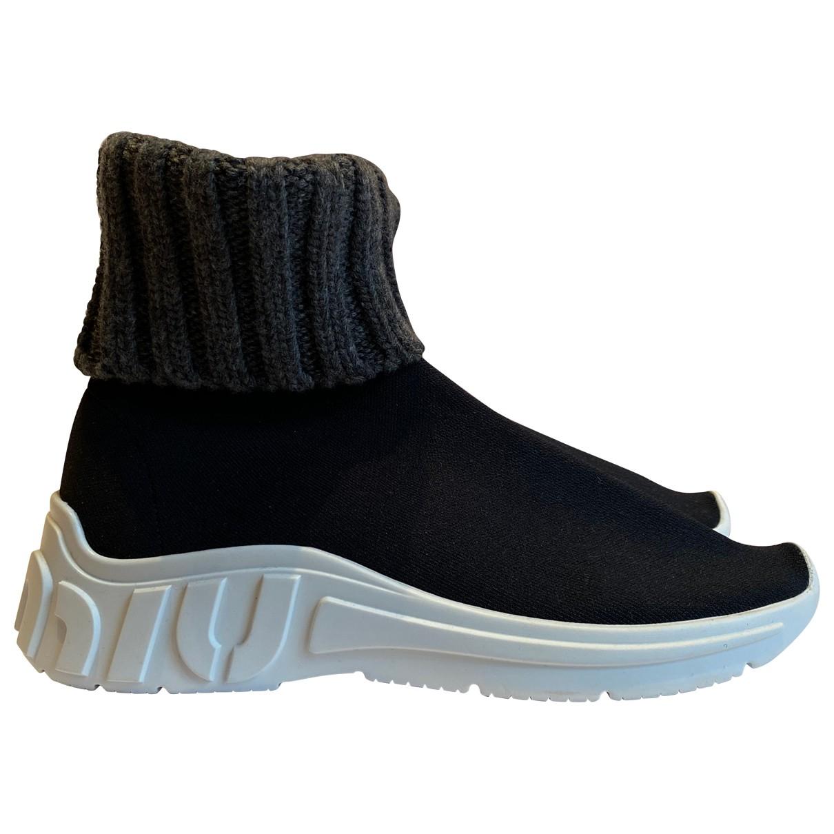 Miu Miu \N Sneakers in  Schwarz Polyester
