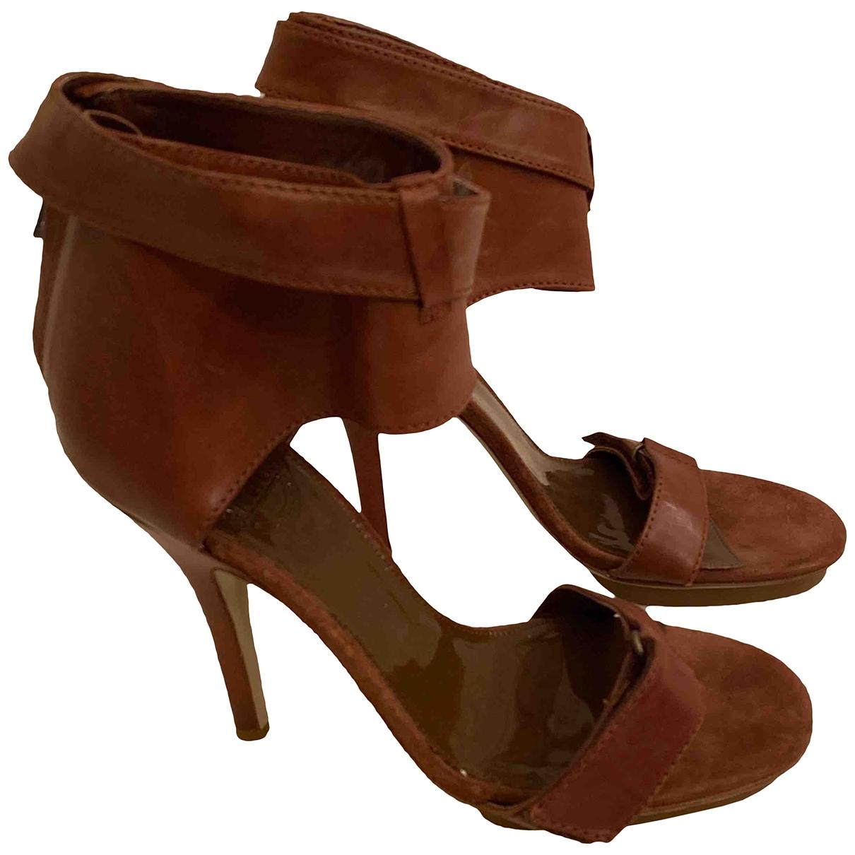 Acne Studios - Sandales   pour femme en cuir - marron