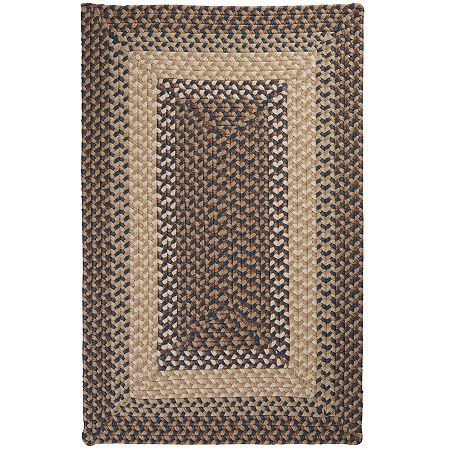 Colonial Mills Sausalito Reversible Braided Indoor/Outdoor Rectangular Rug, One Size , Blue
