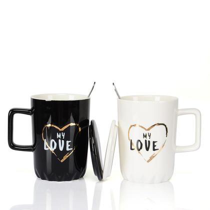 Coffee Mugs my love, set of 2, 400ml - LIVINGbasics™