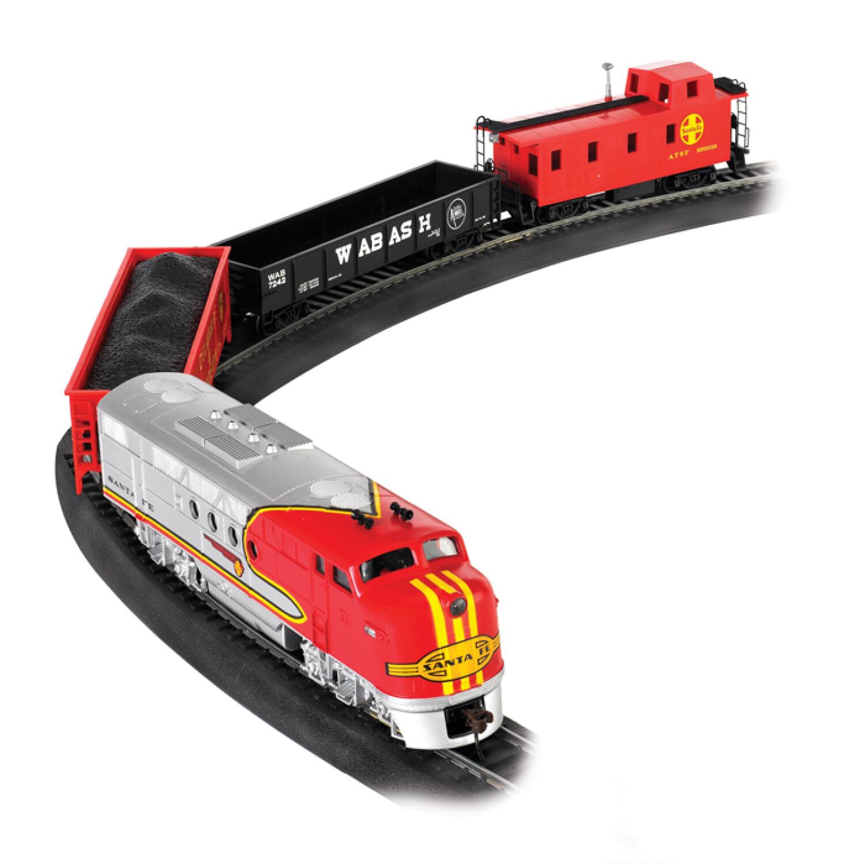 Bachmann Trains Sante Fe Flyer Ready to Run HO Train Set with EZ Track