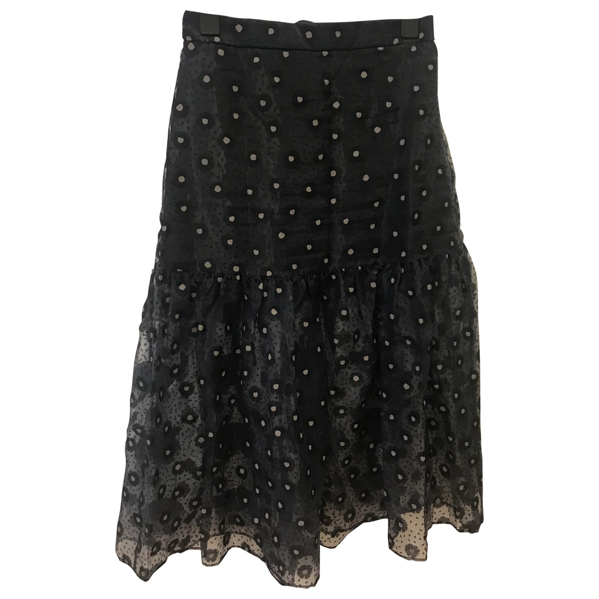 Falda maxi de Seda Zara