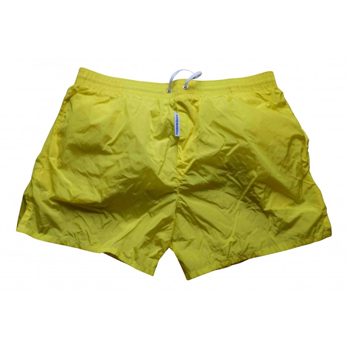 Dsquared2 \N Yellow Swimwear for Men 48 IT