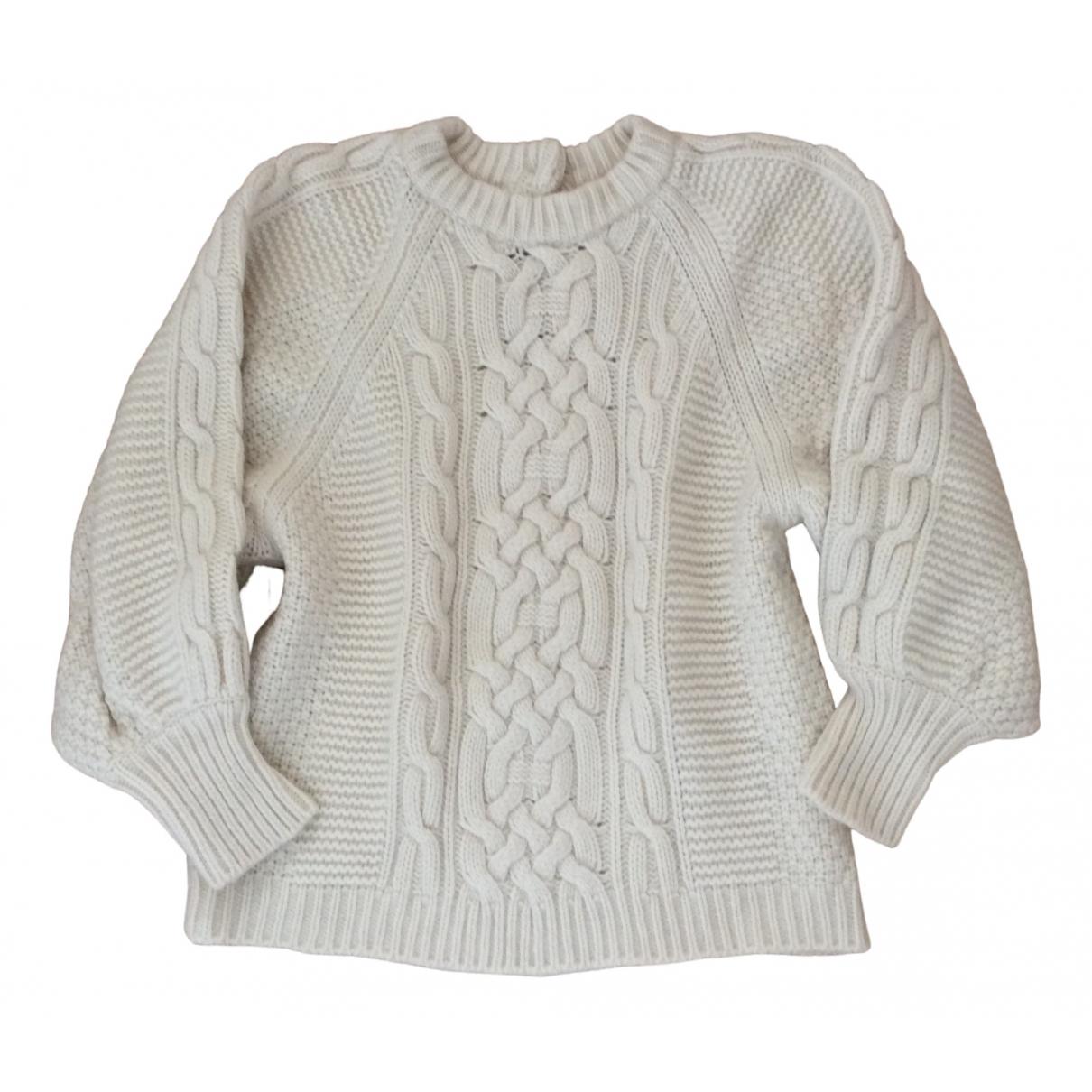 Ba&sh \N Pullover in  Ecru Wolle