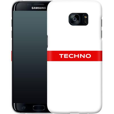 Samsung Galaxy S7 Edge Smartphone Huelle - RED LINE von Berlin Techno Collective