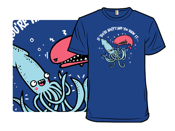 Squid Are So Mean T Shirt