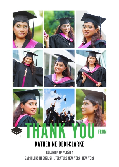 Graduation Thank You Cards 5x7 Folded Cards, Standard Cardstock 85lb, Card & Stationery -The Grad Event Squares Thank You