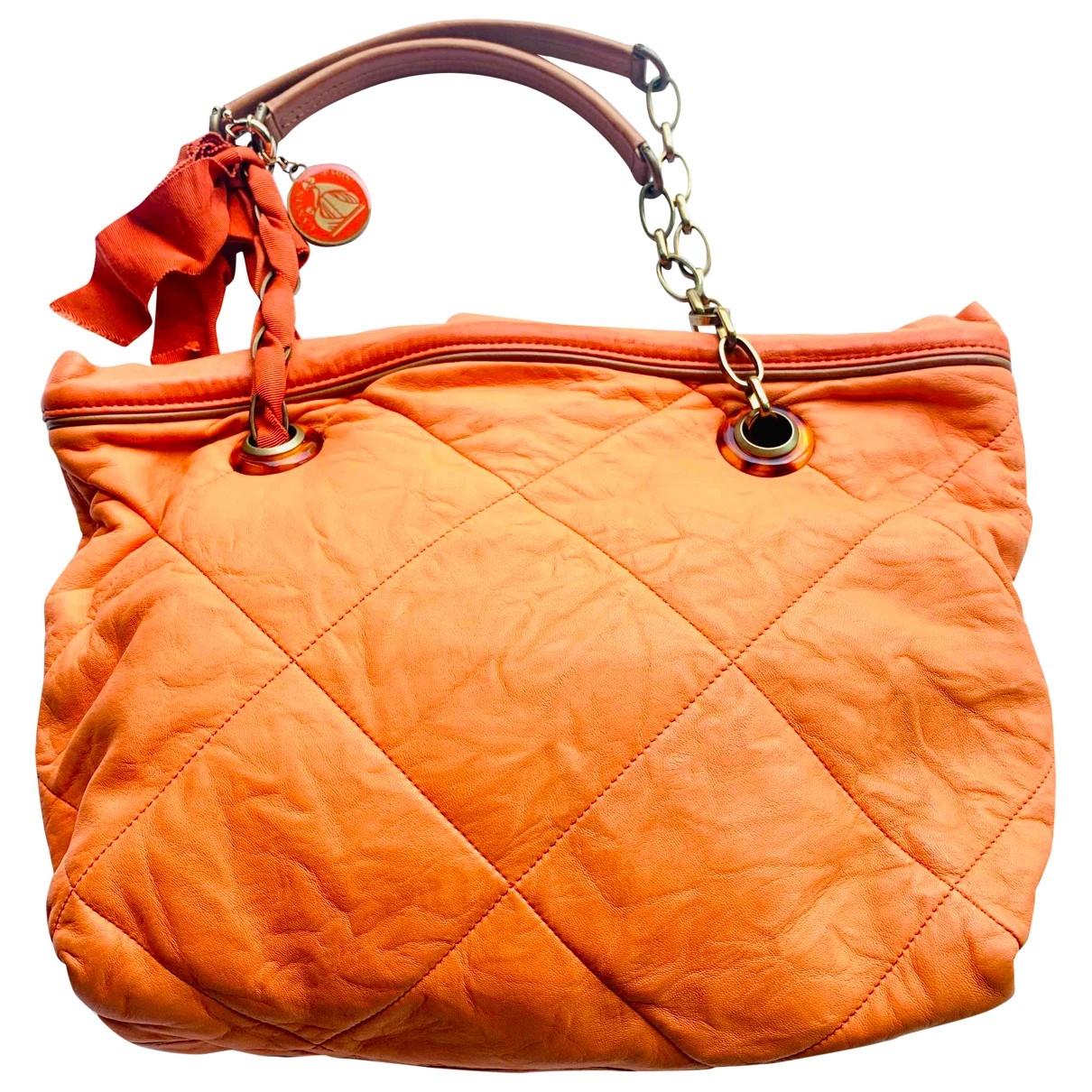Lanvin Amalia Orange Leather handbag for Women \N