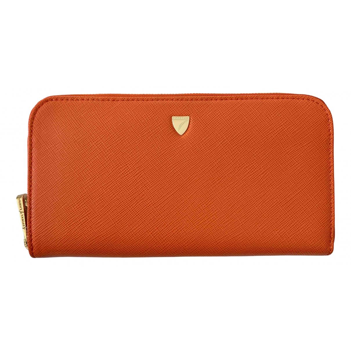 Aspinal Of London - Petite maroquinerie   pour femme en cuir - orange