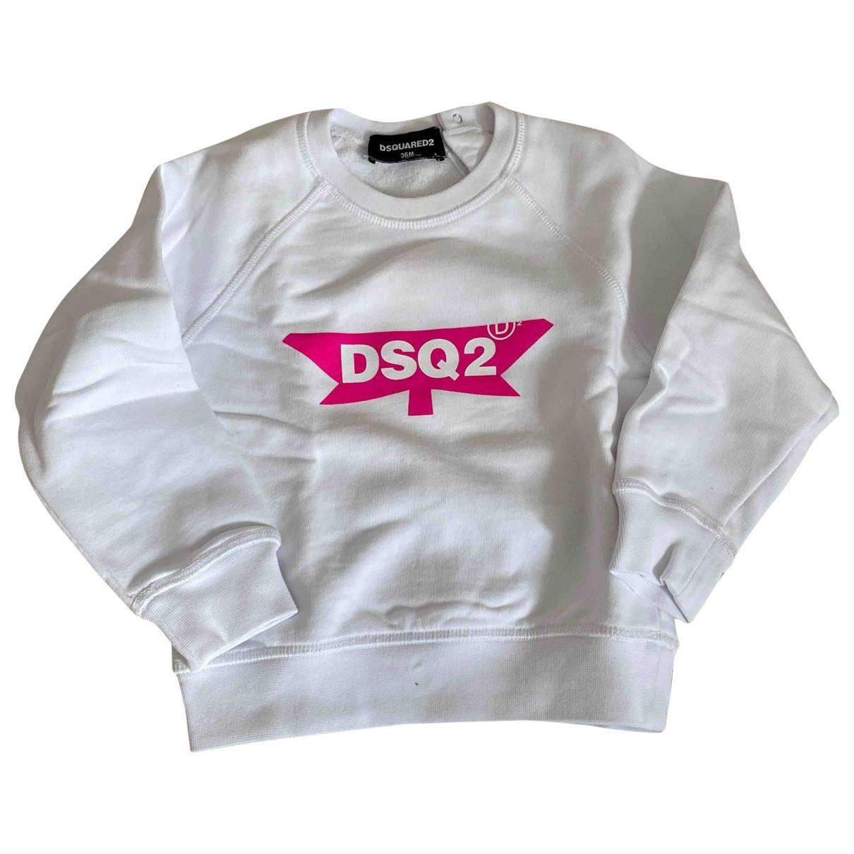 Dsquared2 - Pull   pour enfant en coton - blanc