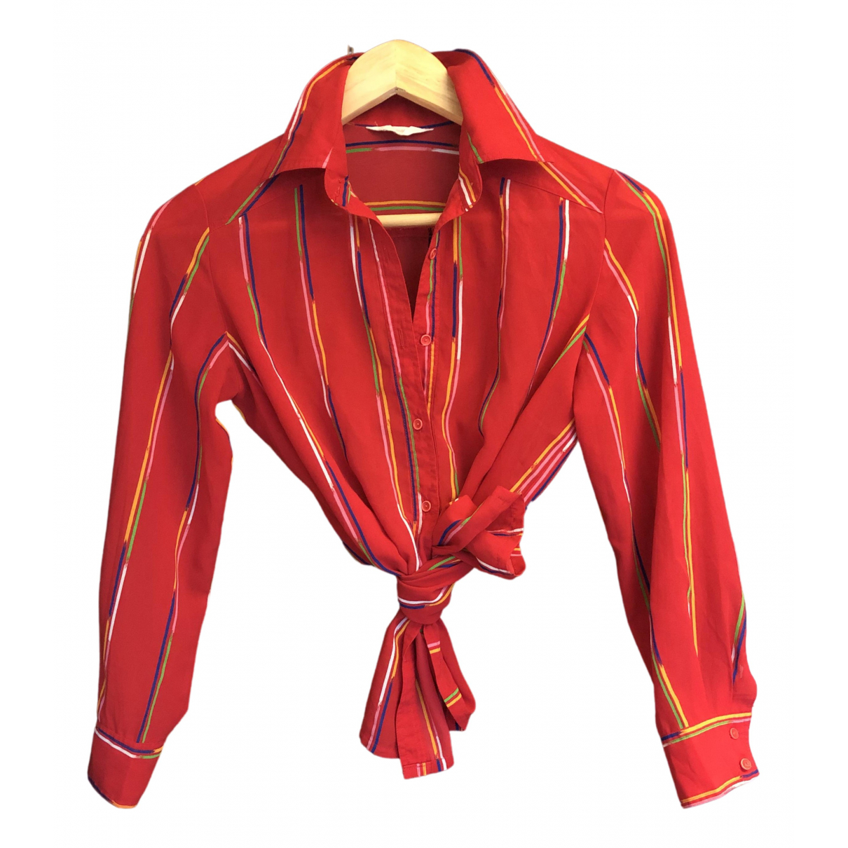 Non Signé / Unsigned N Red  top for Women S International
