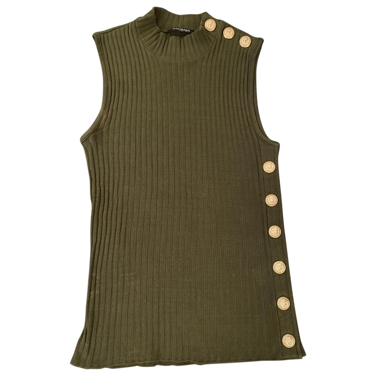 Balmain \N Khaki Cotton  top for Women 40 FR