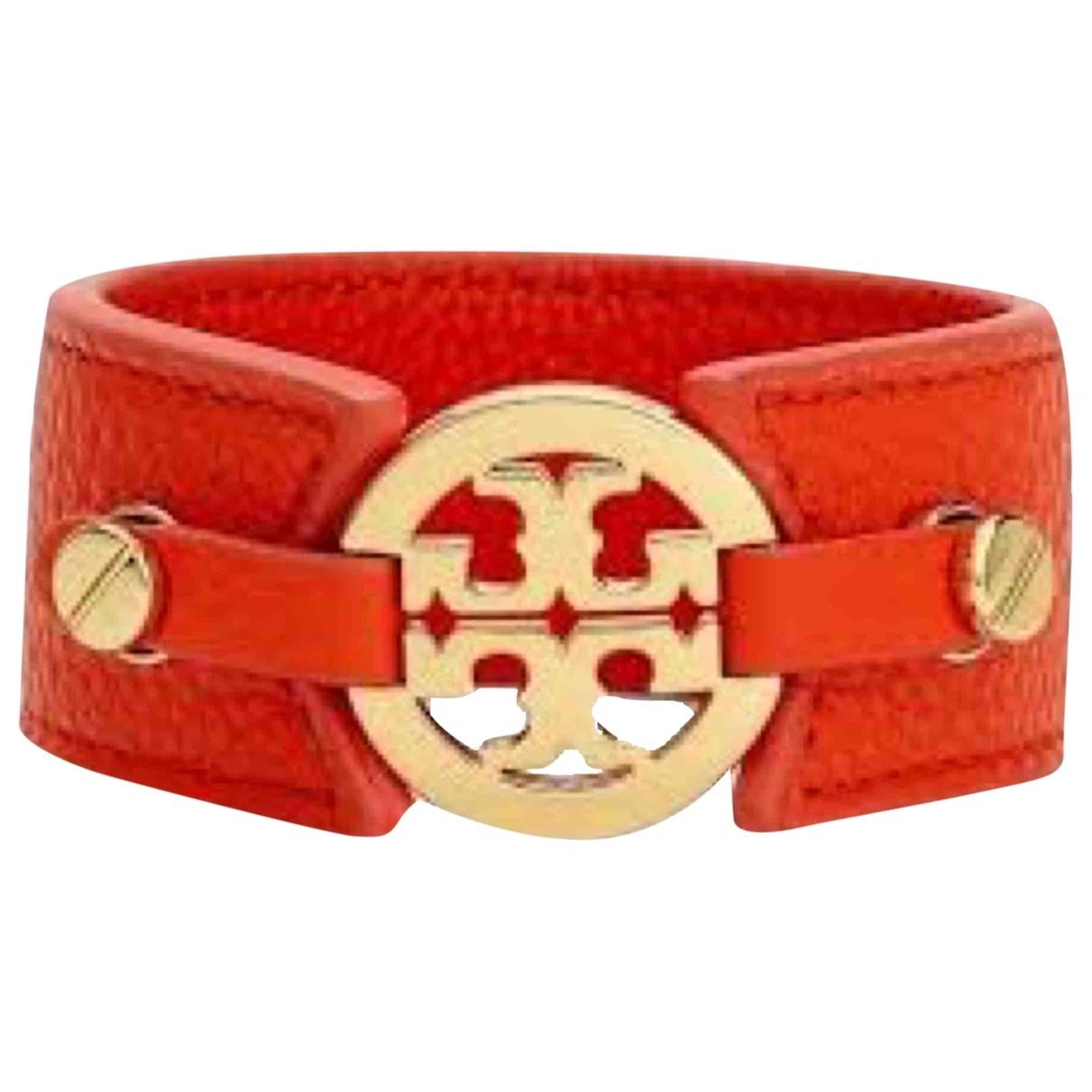Tory Burch - Bracelet   pour femme en cuir - rouge