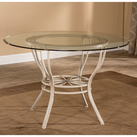 Hillsdale House Round Wood-Top Dining Table, One Size , White