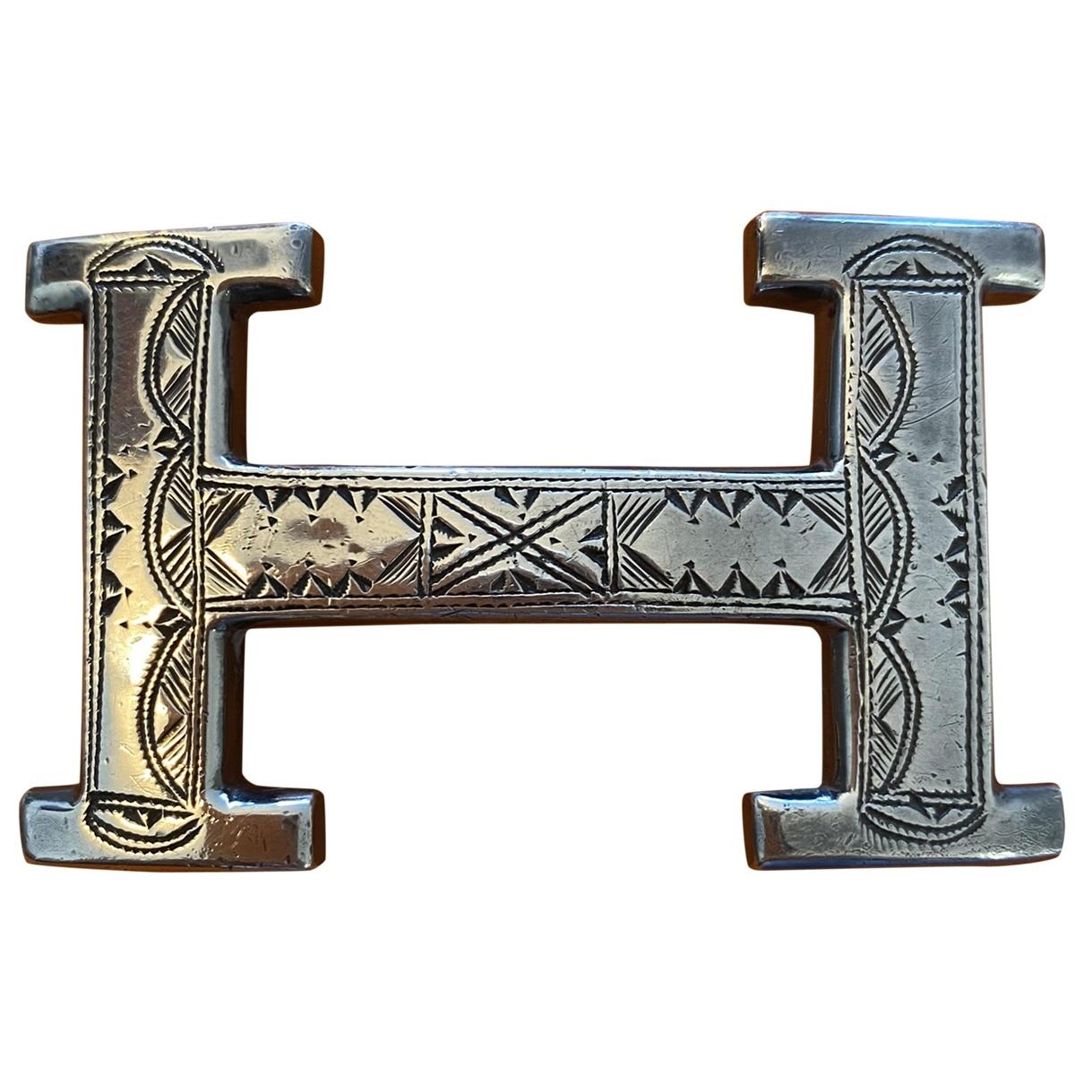 Hermes Boucle seule / Belt buckle Guertel in  Silber Silber