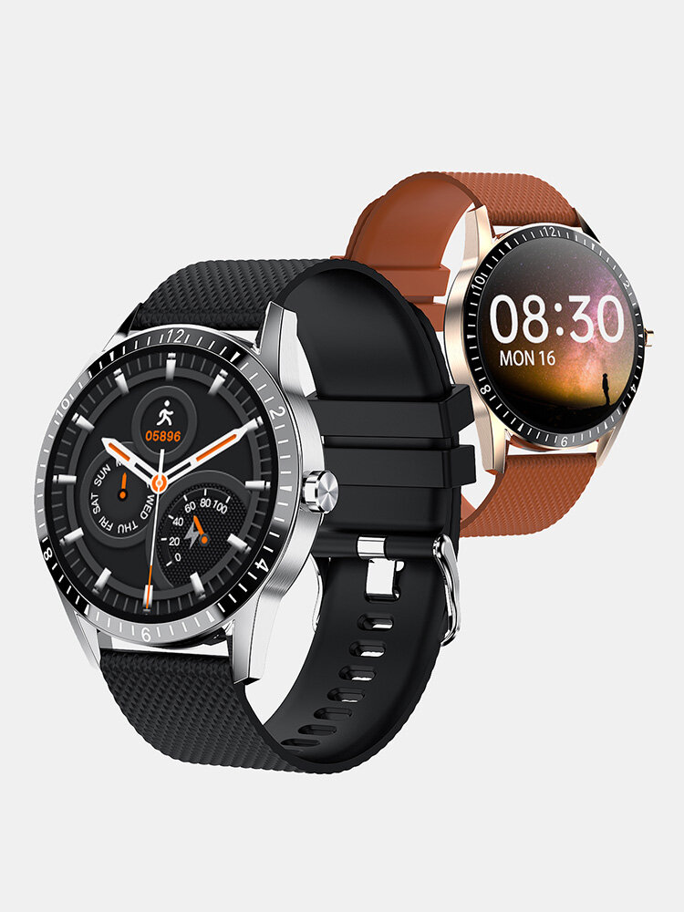 Bakeey Y20 Full-touch Screen Heart Rate Blood Pressure Oxygen Monitor Custom Dial Weather Display Smart Watch