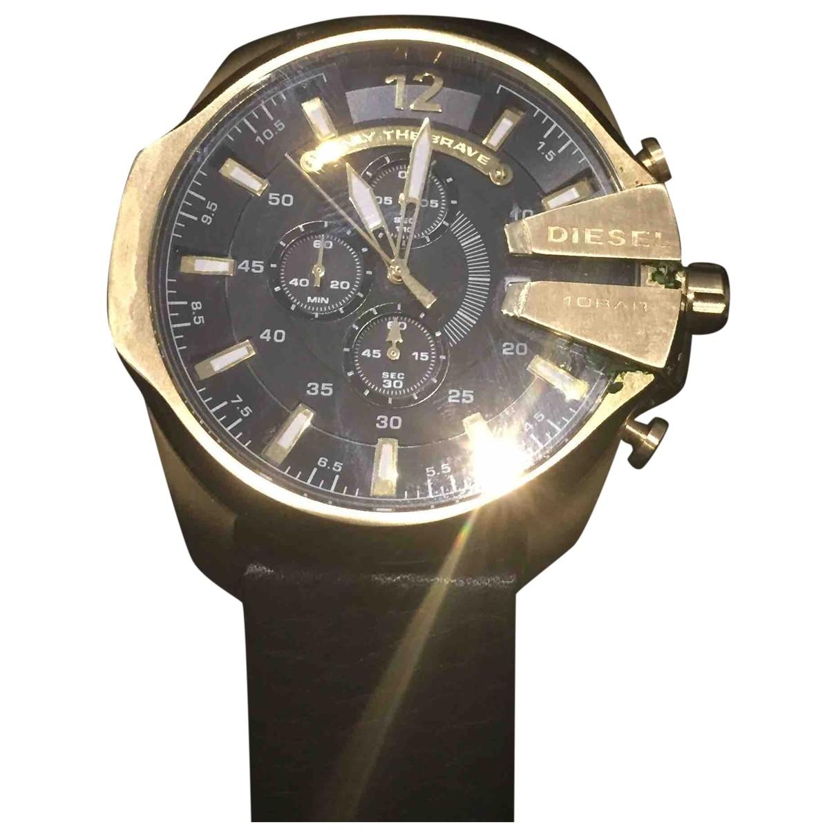 Diesel Black Gold \N Uhr in  Gold Stahl