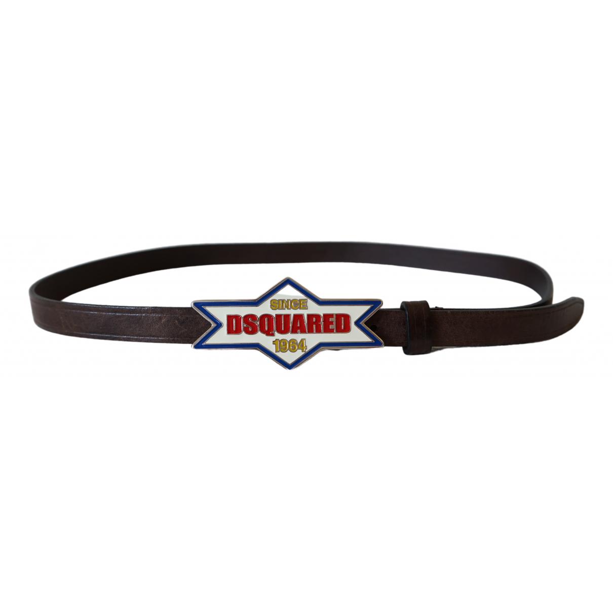 Dsquared2 \N Brown Leather belt for Women L International