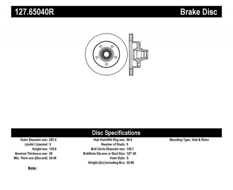 StopTech 127.65040R Sport Drilled/Slotted Brake Rotor; Front Right Ford E-150 Front Right 2003