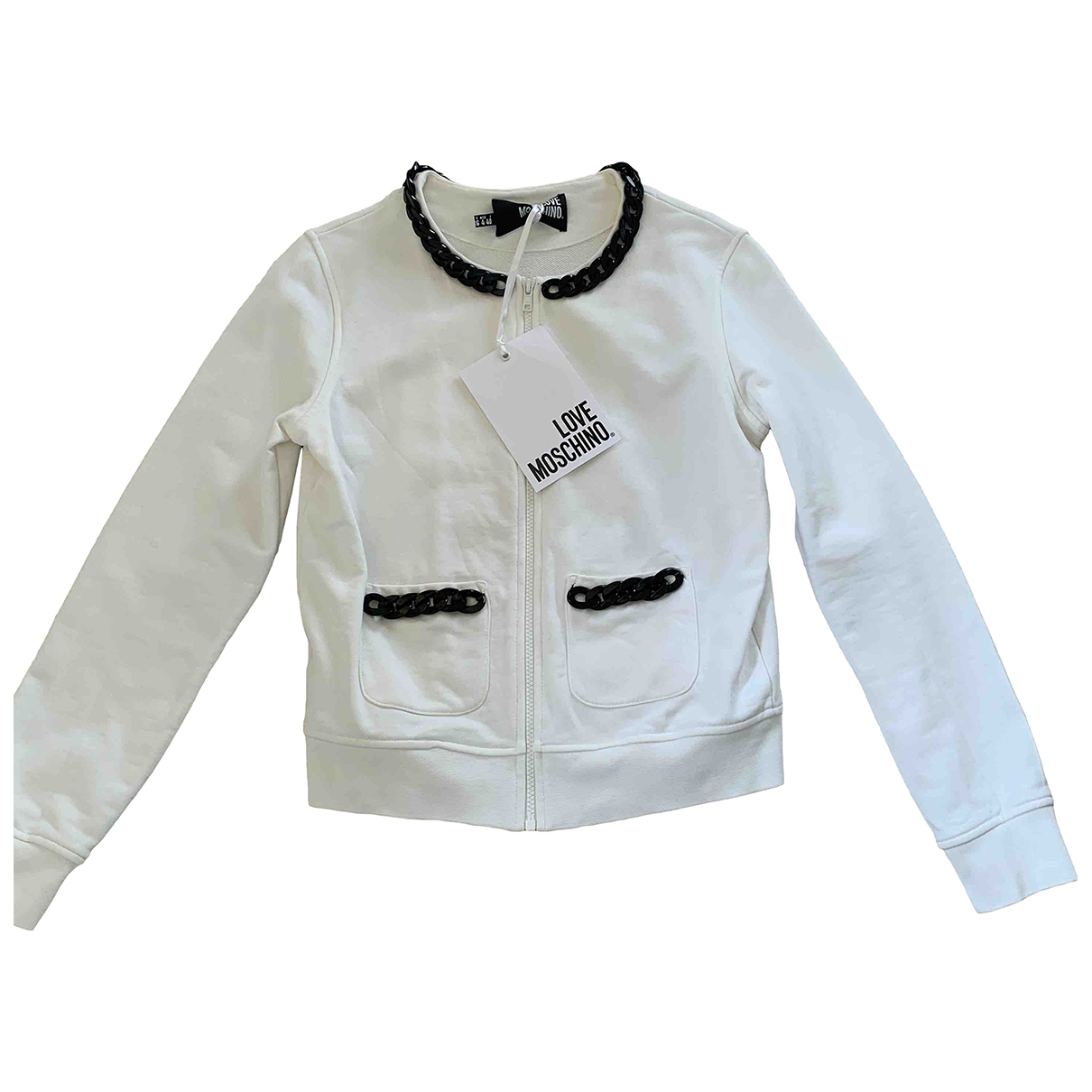 Moschino Love \N Pullover in  Weiss Baumwolle