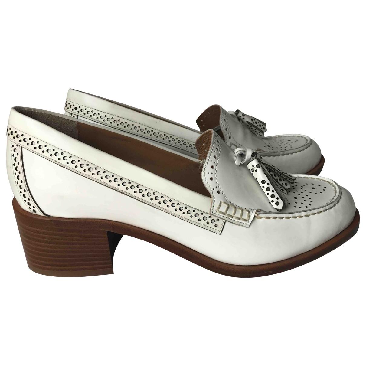 Bass Weejun \N White Leather Heels for Women 40 EU