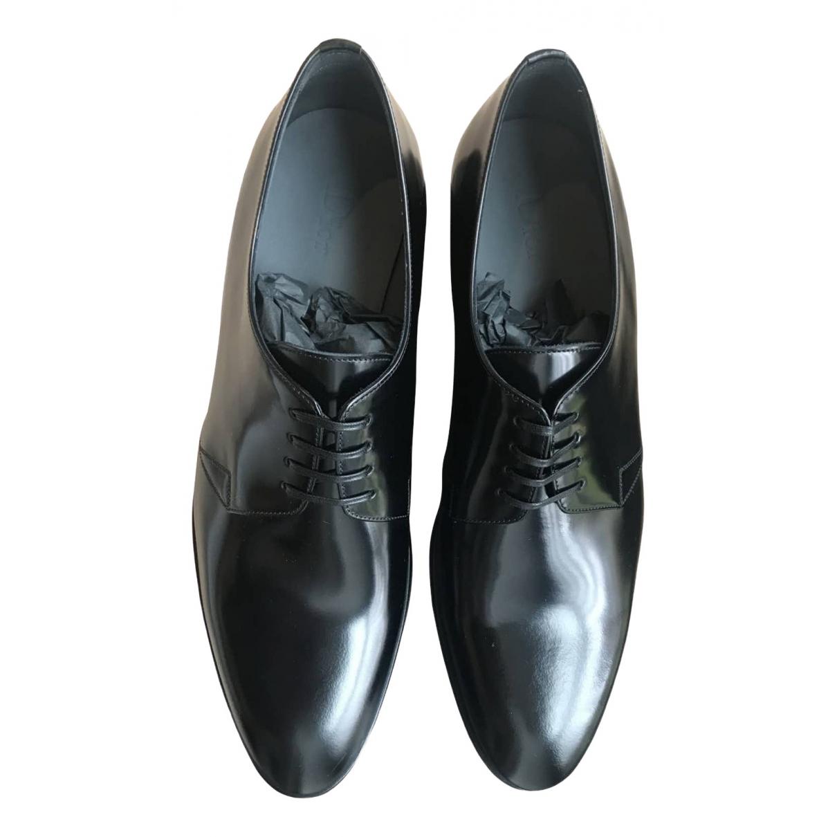 Dior Homme \N Schnuerschuhe in  Schwarz Leder