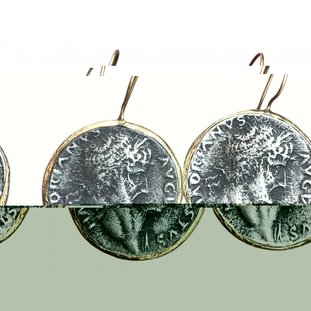 Pendientes Medailles Non Signe / Unsigned