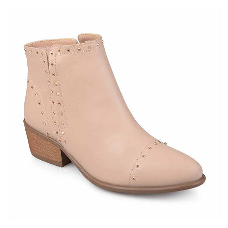 Journee Collection Womens Gypsy Booties Block Heel, 8 1/2 Medium, Pink