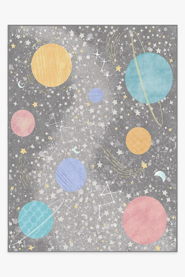 Washable Rug Cover | Outer Space Soft Grey Rug | Stain-Resistant | Ruggable | 9'x12'